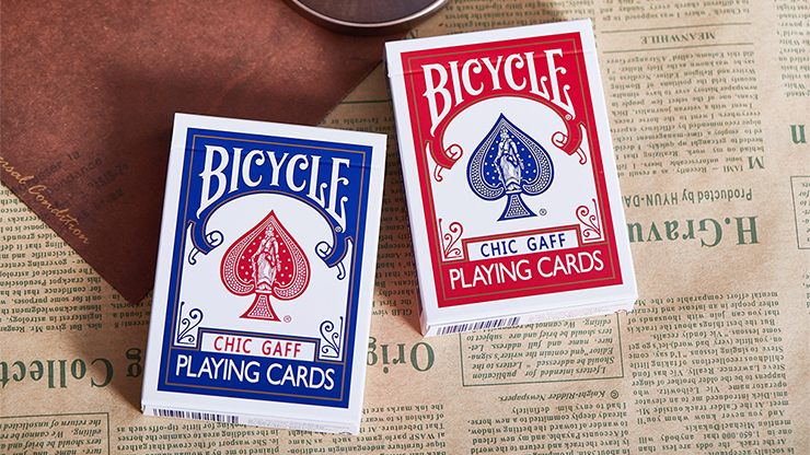 Bicycle Chic Gaff (Red) Playing Cards