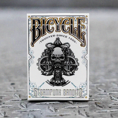 Bicycle Steampunk Deck by Gamblers Warehouse White